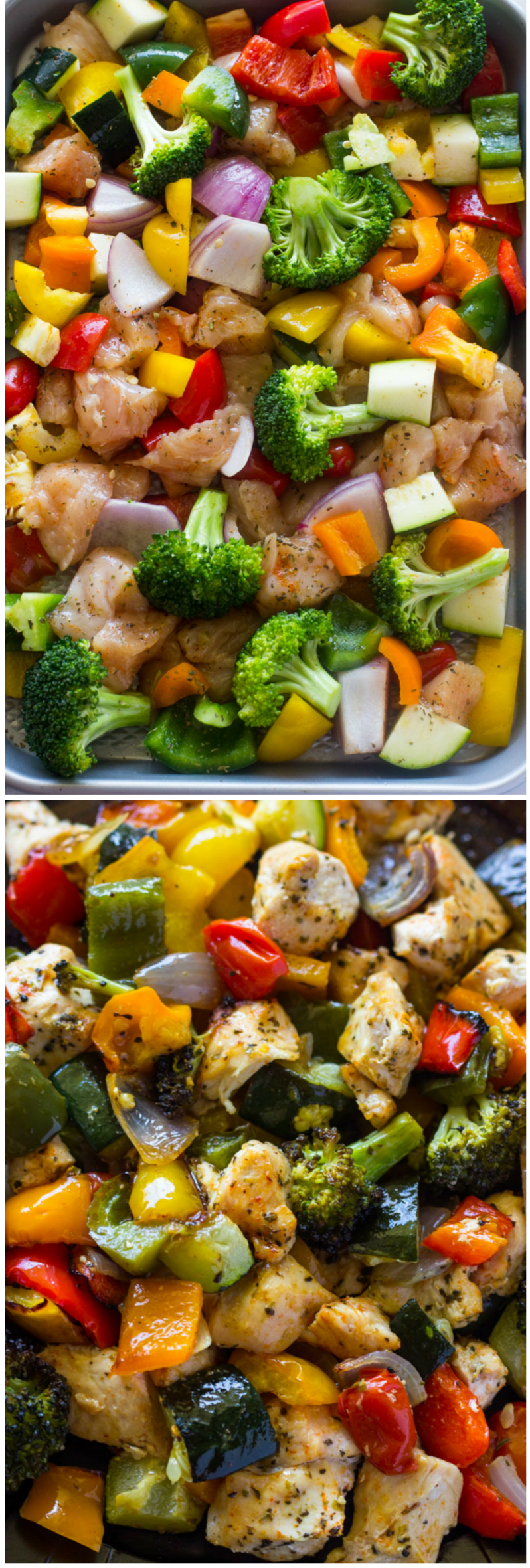 Healthy Roasted Chicken and Veggies in just 15 Minutes