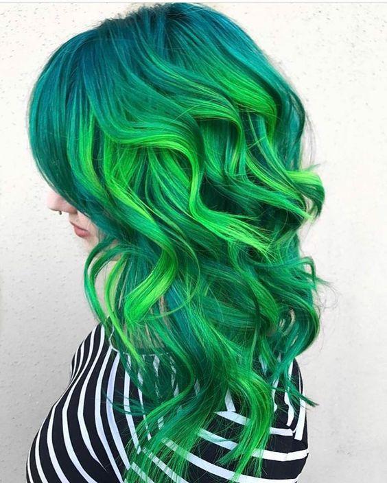30 Green Hair Color Ideas